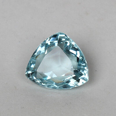 19.05 Ct Natural Aquamarine Greenish Blue Color Trillion Cut Loose Certified Gem