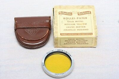 Rolleiflex Medium Yellow Filter for Bay I cameras with case and box ~
