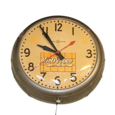 Vintage Rare Dr. Pepper Wall Clock, General Electric 10-2-4