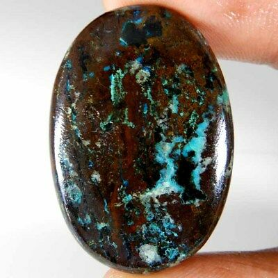51.10cts. 100% Natural Designer Azurite Oval Cabochon Untreated Loose Gemstone