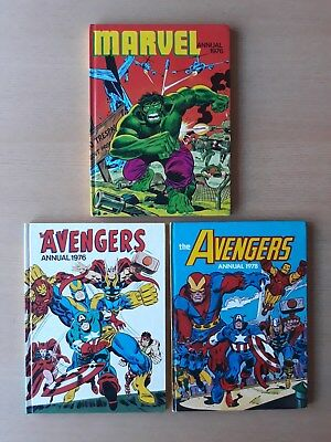 Marvel Annual 1976 The Avengers Annuals 1976 1978 ( Bronze Age ) 3 Uk Annuals