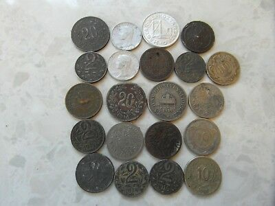 JOB lot COLLECTION of  various Collectable World War 1, 2 old coins