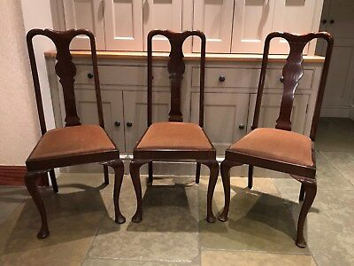 Set of 3 Antique Dining Chairs in Very Good Condition