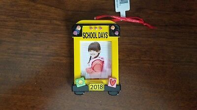 NWT Hallmark 2018  SCHOOL DAYS  PHOTO Ornament- FREE SHIPPING