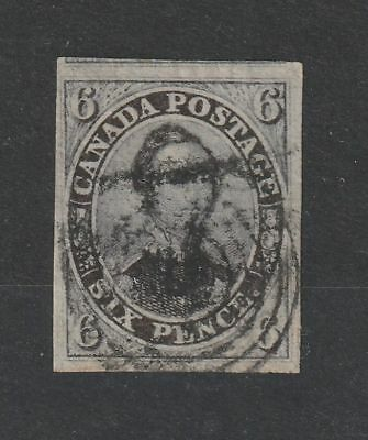 Canada 1851 SG # 2 Vertical laid paper vf Used