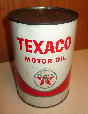 Vintage Texaco Oil Can Metal