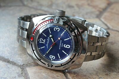Russian Mechanical Automatic Wrist Watch VOSTOK AMPHIBIAN DIVER 090659