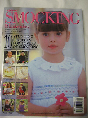 No.54 Australian Smocking & Embroidery Magazine pattern dress romper basket shoe
