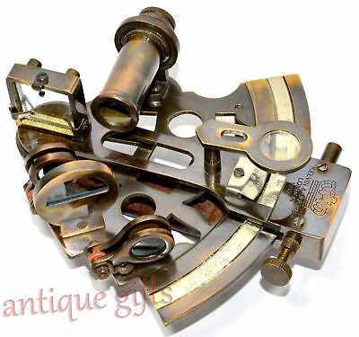 "Nautical Sextant 5"" Kelvin Hughes Antique Marine Sextant Solid Brass Astrolabe"