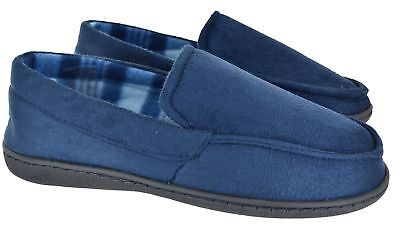 Mens New Gents Warm Slip On Comfort Flat Moccasin Winter Slippers Shoes Sz 6-11