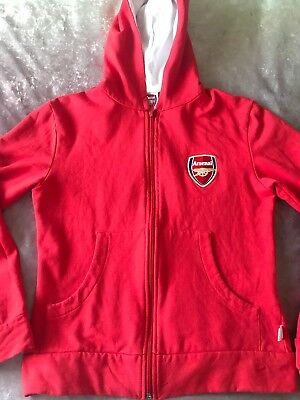 Fab Red Jersey ARSENAL Long Sleeve Zip Up Hoodie / Jumper - Age 9-10 Years ⚽️⚽️