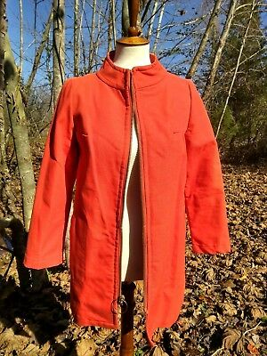 ff2d80f86cd85 VTG 60s Womens Bright Orange Small Game Hunting Jacket Coat Mackinaw Made  In USA