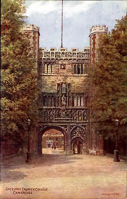 Gateway Trinity College ~ from watercolor by A.R. Quinton ~ England UK