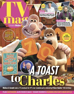 SUN TV Magazine 11/2018 WALLACE & GROMIT Cover Exclusively Designed by Aardman