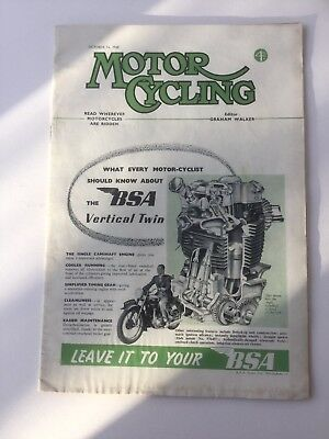 Motor Cycling Magazine October 14th 1948