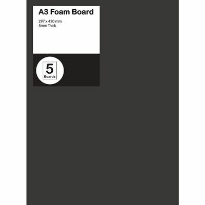 A3 Foam Board 5mm Black 5 Pack