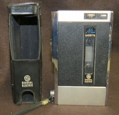 Vintage GE General Electric Mini Cassette player/recorder M8700C UNTESTED