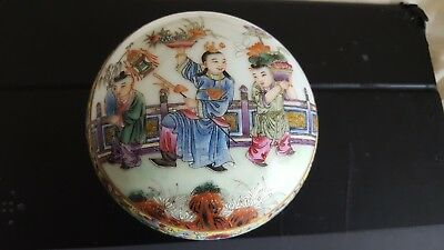 A Very Fine Chinese QIANLONG Famille Rose Scholars Seal Paste Box