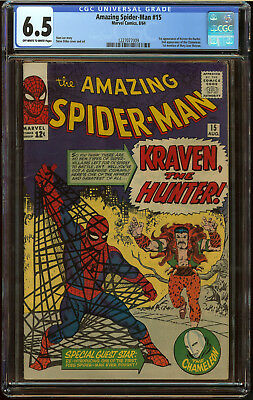 Amazing Spider-Man #15 CGC 6.5 OW/W Pgs First app Kraven the Hunter SA Key Book