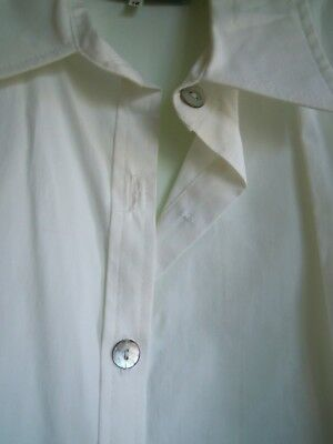 BOX *VINTAGE Shirt.Crisp White.SIze 12.Made in England.Nicely shaped.100% cotton