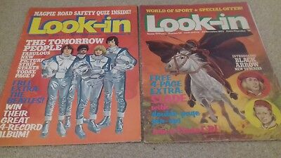 2 x Look In magazines Beatles and Slade 1972/3