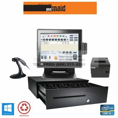 Retail POS System with Maid Software Complete - WINDOWS 10, 8GB, i5 CPU HP POS