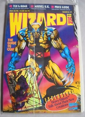 Wizard: The Guide to Comics March 1993 -Number 19 - With Wolverine Poster