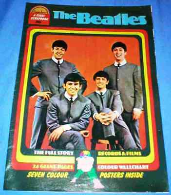 THE BEATLES - SPECIAL ISSUE, 1970s ORIGINAL POSTER BOOK AND WALLCHART