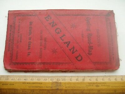 Antique Cloth Cycling Map England