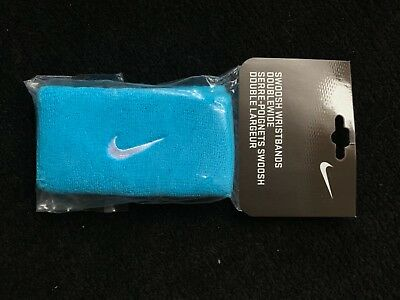 Nike wristband blue with white swoosh