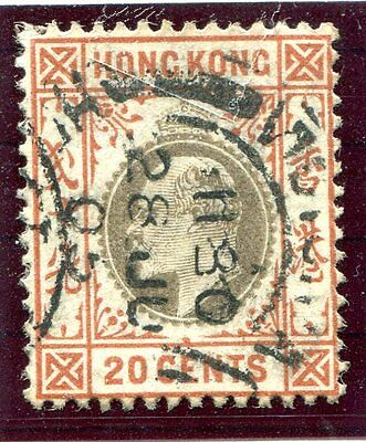Hong Kong KEVII 20c Slate and Chestnut SG69