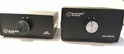 Black Box ABC Data Communication Switches (724) 746-5500 and cables