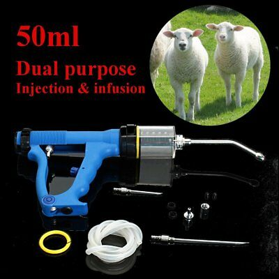 Continuous Drench Gun 50ml for Animal Cattle Sheep Goats Oral Injection Infusion