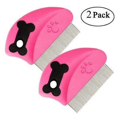 Dog Flea Comb Pet Cat Hair Brush Grooming Tool Clean Fur Remove Lice Mites Rakes
