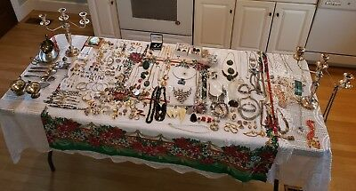 Vintage antique costume jewelry lots silver gold stainless coral so much to list