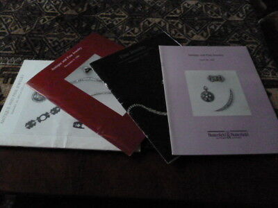 Butterfield & Butterfield 4 Antique and Fine Jewelry auction catalogues '85-'87