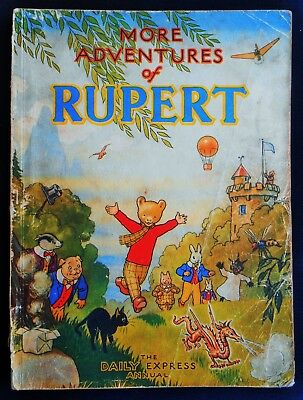 Vintage Oirginal 1947 Rupert Bear Annual, Price Unclipped 4/6