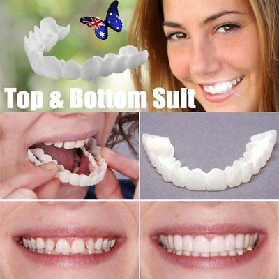 Instant Smile Comfort Fit Flex Cosmetic Teeth Denture Teeth Top Cosmetic Veneer