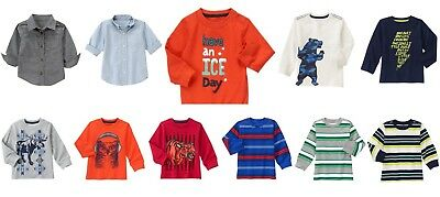 NEW Gymboree boy long sleeve tee shirts 3T 4T 5T NWT YOU PICK Fall Winter Spring