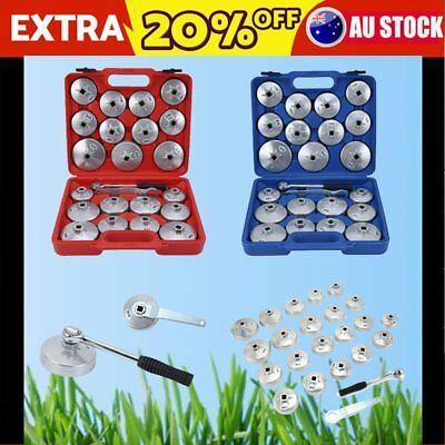 23Pcs Aluminium Oil Cup Type Filter Wrench Removal Socket Remover TOOL KIT NEW