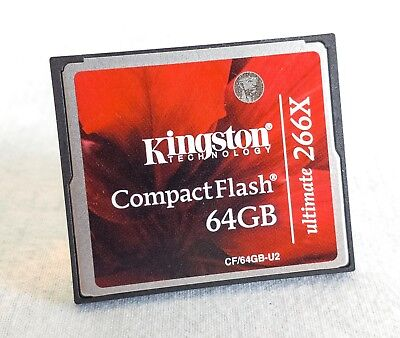 Kingston 64GB Compact Flash CF Memory Card 266x * UK based ! * Ships Worldwide !