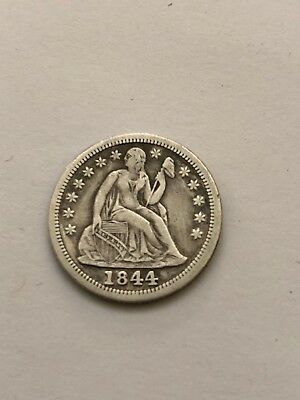 1844 Seated Liberty Dime NO RESERVE