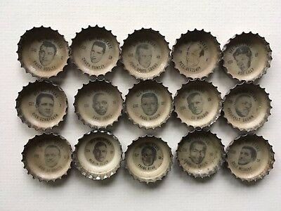 1966 Coca Cola (15) NFL All Stars Bottle Caps. Includes 4 NFL Hofers. Ex