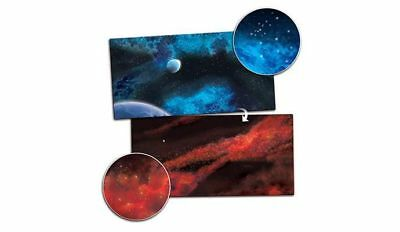Gaming Mat Crimson Gas Giant / Frozen Star System 3x6 Two Sided Two Sided Play