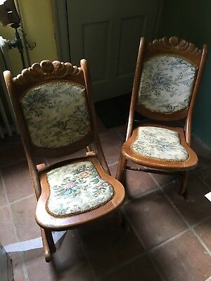 2 Victorian Folding rocking Chairs
