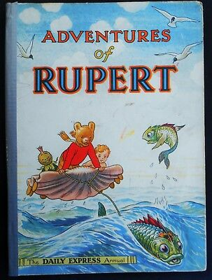 Vintage 1950 Rupert Bear Annual, Price Unclipped 4/-
