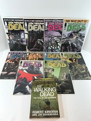 The Walking Dead 10-Comic Book Lot, Issues 77-79, 83-89 & Fall Of The Governor 1