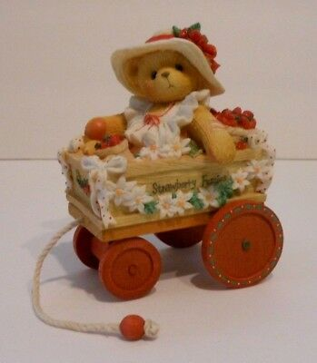 """1996 Priscilla Hillman - Bear Figurine """"Diane"""" - I Picked the Beary Best for You"""