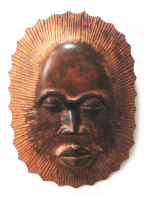 Africa Dan Tribe antique mask carved wood authentic peaceful face excellent cond