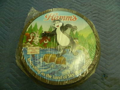 NOS Vintage Hamms Beer Sign Hamms Dancing Bear Plastic Molded Sign New Old Stock